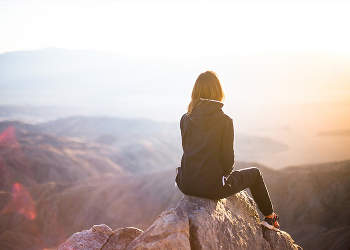 woman taking in the view
