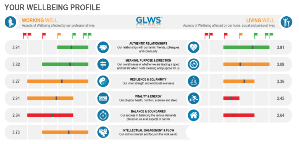 GLWS Wellbeing Profile
