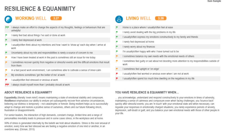GLWS Image of report page for resilience and equanimity